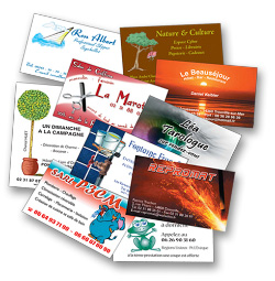 Nous Vous Proposons Un Large Choix De Formats Papiers Et Finitions Pour Vos Cartes Visites